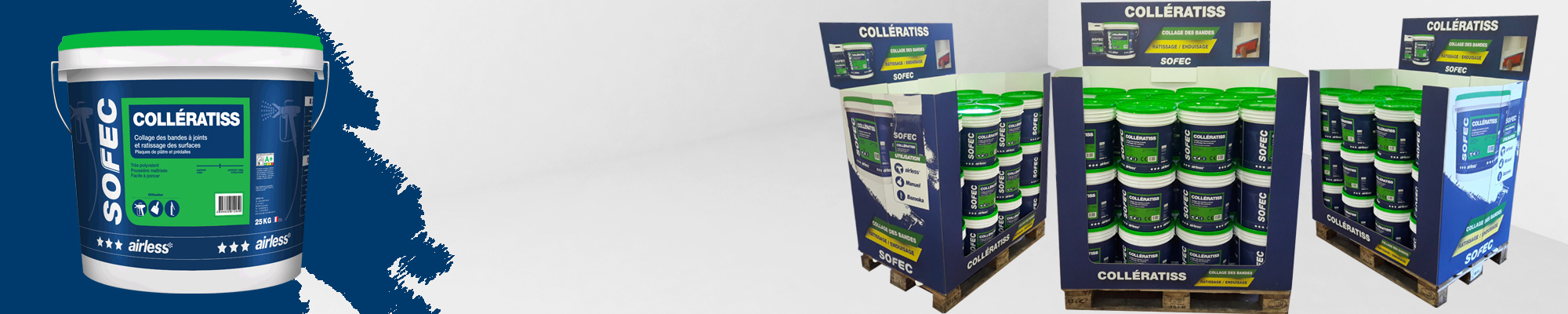 Collératiss, designed to be use with any tools for joint treatment & surface skimming